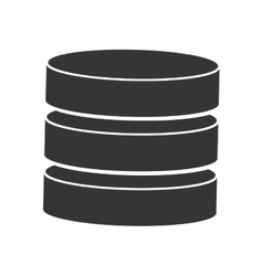 database technology computer isolated vector image