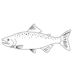 Doodle animal for wild salmon vector