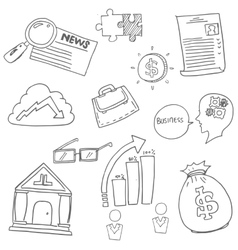 Doodle of Business icon hand draw vector