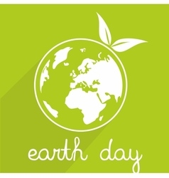Earth day icon with planet vector