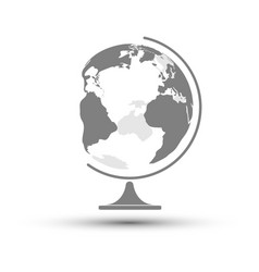 earth globe school tool vector image