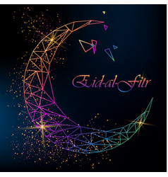 Eid al fitr greeting card vector