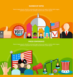 election conference and vote vector image