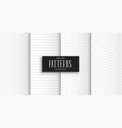 elegant clean white minimal geometric patterns set vector image