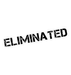 Eliminated rubber stamp vector image