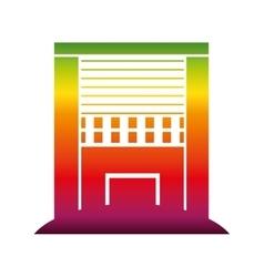 Exterior cute building icon vector
