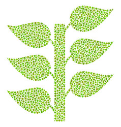 flora plant mosaic of dots vector image
