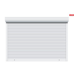 garage roller shutters isolated vector image