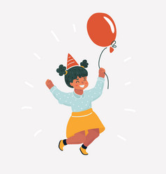 girl child jumping vector image