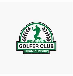 Golf club badge logo-10 vector