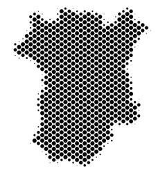 Halftone dot chechnya map vector