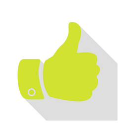 hand sign pear icon with flat style vector image
