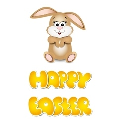 Happy easter cards with bunny vector image