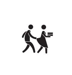Harassment behevior black concept icon vector