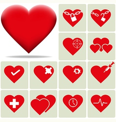heart 2 vector image