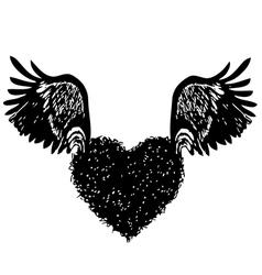Heart wing 03 vector