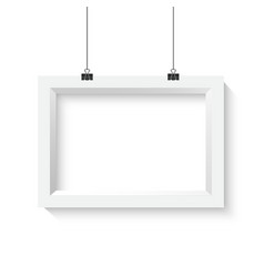 Horisontal Poster Frame Mockup Realistic vector image