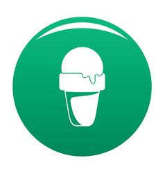 ice cream summer icon green vector image