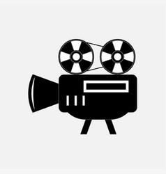 icon video camera vector image