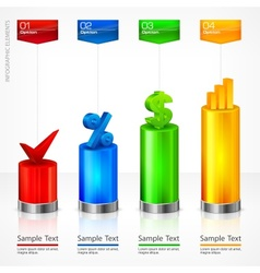 Infographic elements color vector image