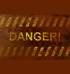inscription danger vector image