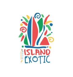 island exotic logo template original design vector image