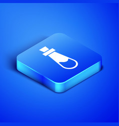 Isometric bottle with potion icon isolated on blue vector