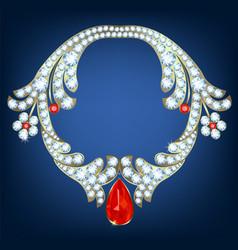 Jewelry with diamonds vector