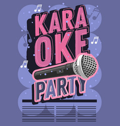 karaoke party music poster design with a vector image