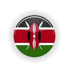 Kenya icon circle vector image