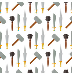 Knights medieval weapons heraldic elements vector
