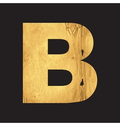 Letter B of the English alphabet vector
