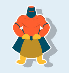 Man superhero superhero standing icon in vector