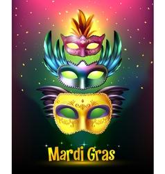 Mardi Gras Carnival Poster vector image