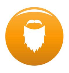 Mask beard icon orange vector