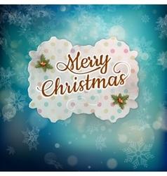 Merry Christmas greeting card EPS 10 vector