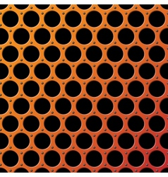 Metal Grill Seamless Pattern vector image