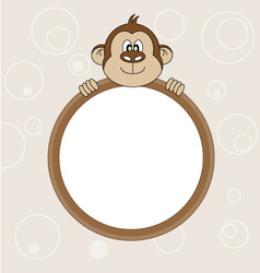 monkey frame vector image