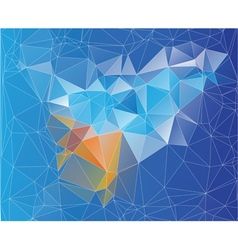 mosaic low poly design vector image
