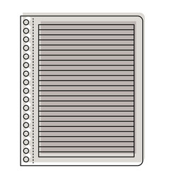 notebook paper with horizontal lines in watercolor vector image