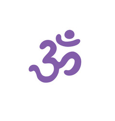 Om sign doodle icon color vector