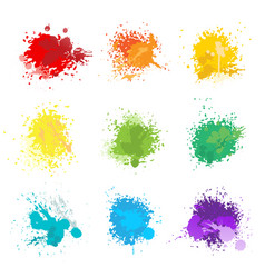 Paint splat colors vector