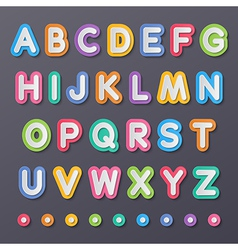 paper capital alphabet letters vector image