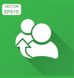 People referral icon in flat style business vector