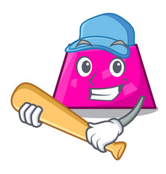 playing baseball trapezoid character cartoon style vector image