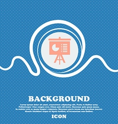 Presentation board icon sign Blue and white vector