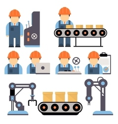 Production Process vector image