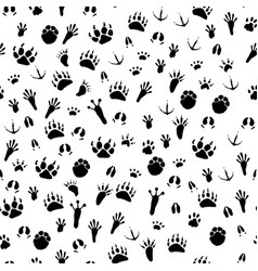 seamless background traces of animals and birds vector image