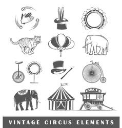 set elements circus vector image