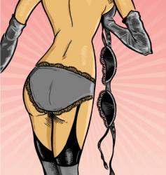 sexy underwear model vector image